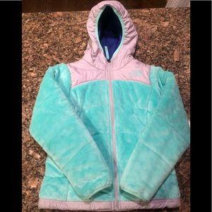 Reversible Girls North Face Jacket -7/8